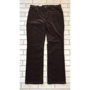 NWT LRL Classic Straight Slimming Corduroy Pants